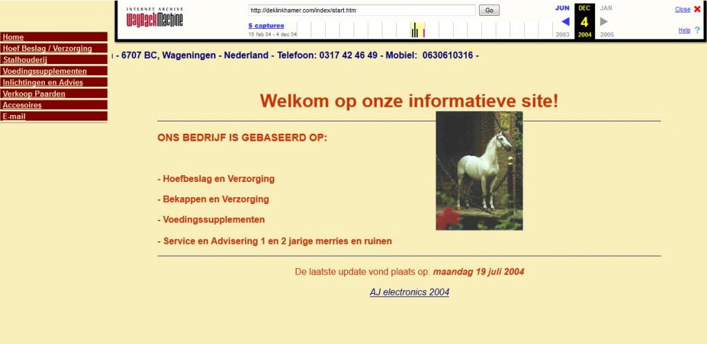websiteklinkhamer