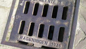 Putdeksel uit ver verleden, Wageningen.